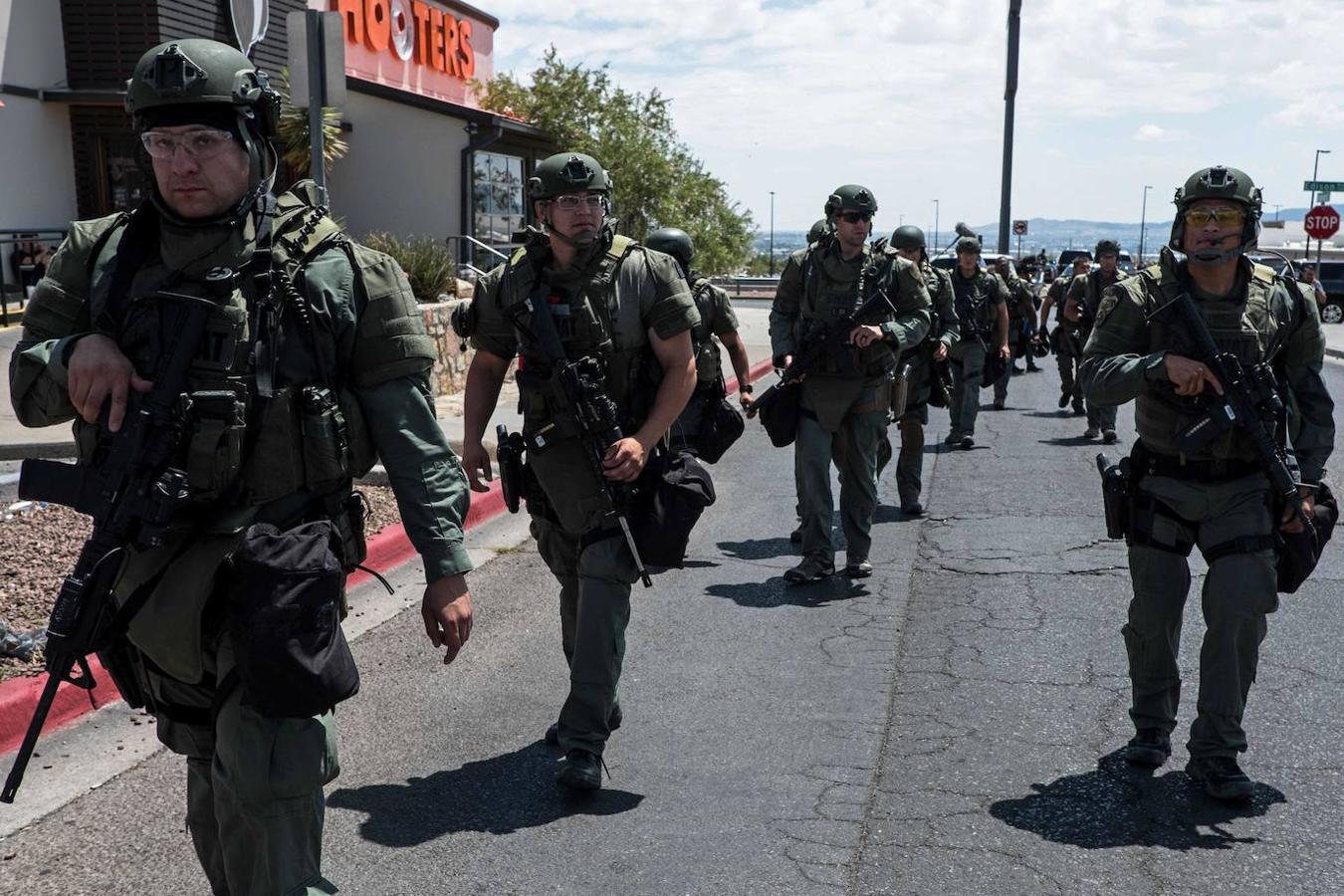 Un gran número de efectivos se desplazaron a la zona para controlar la situación