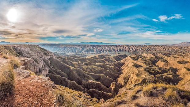 Un río y un lago dejaron su huella en e paraje del norte de Granada hace millones de años.