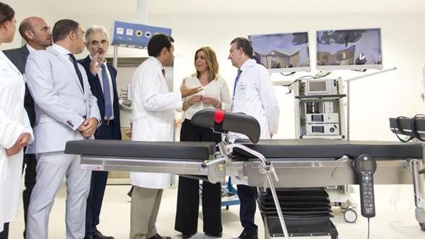 Susana Díaz inauguró el hospital de Cártama hace dos años