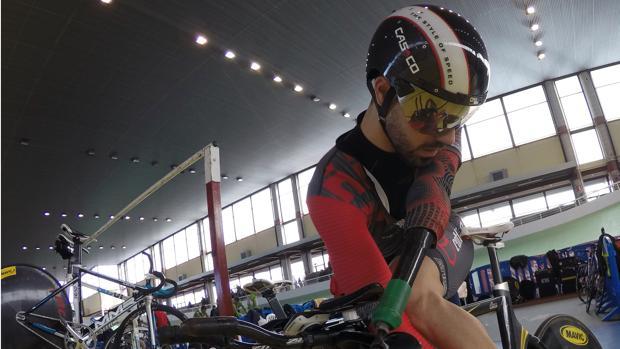 Alfonso Cabello durante un entrenamiento para el Campeonato de España