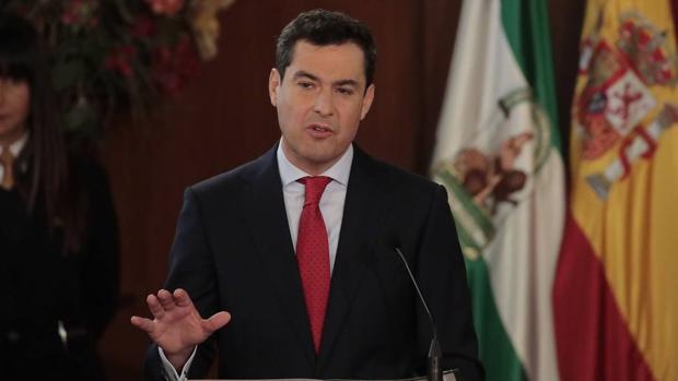 Juanma Moreno, este viernes durante la toma de posesión