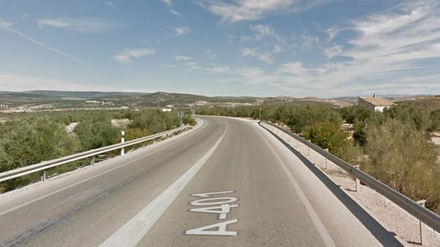 Carretera donde ha tenido lugar el accidente