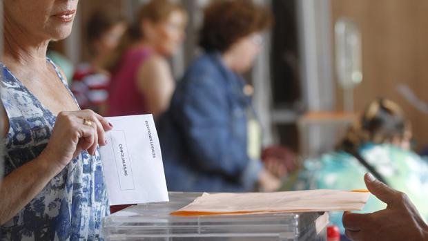 Mesa electoral de las últimas elecciones municipales en Córdoba