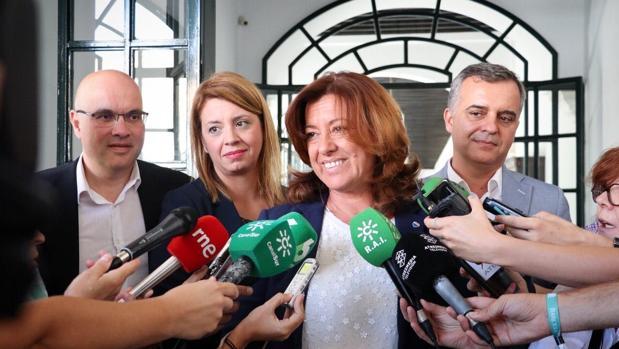 Mar Hormigo, secretaria de Ciudadanos, en declaraciones a los periodistas
