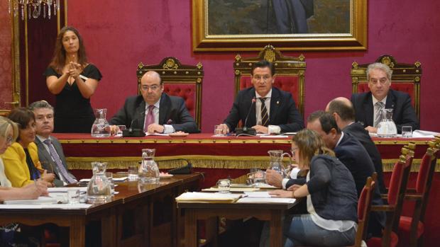 El Ayuntamiento de Granada ha celebrado este viernes el pleno de organización.