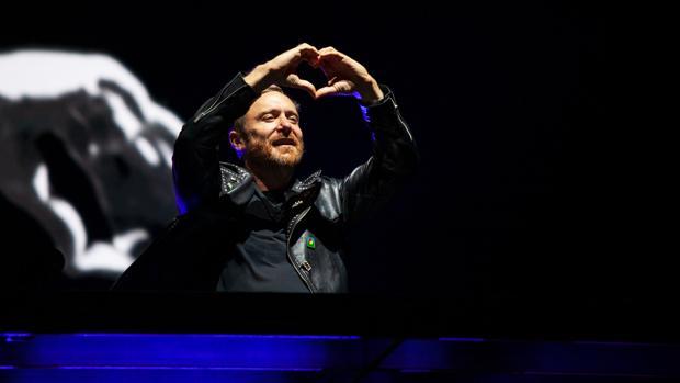 David Guetta, durante el concierto en Gibraltar
