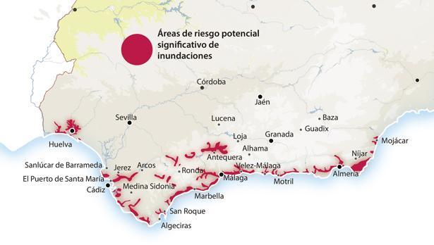 Mapa elaborado por la sección de Diseño de ABC con fuentes de la Junta de Andalucía