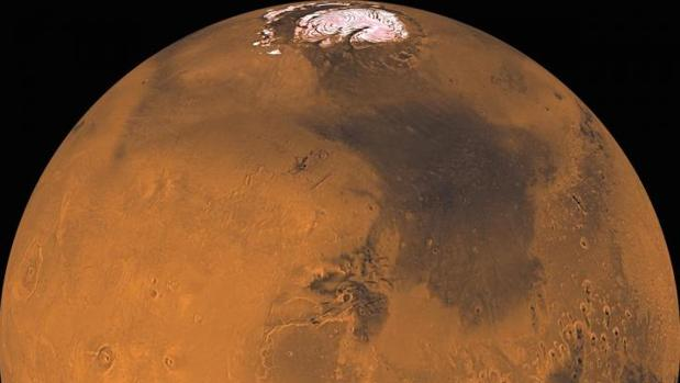 Imagn de Marte creada a partir de cerca de 1.000 imágenes del orbitador Viking