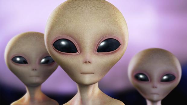 La representación habitual de los extraterrestres, seres calvos de grandes cráneos