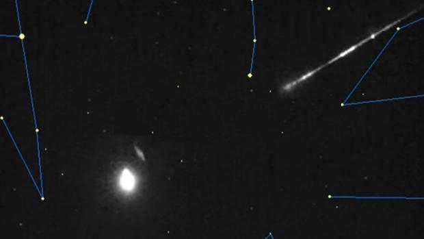 El meteoro que cruzó la Península en la madrugada del domingo