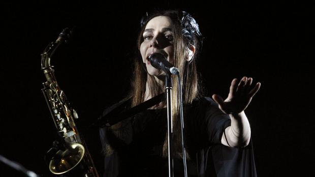 PJ Harvey, anoche durante su actuación en el Primavera Sound