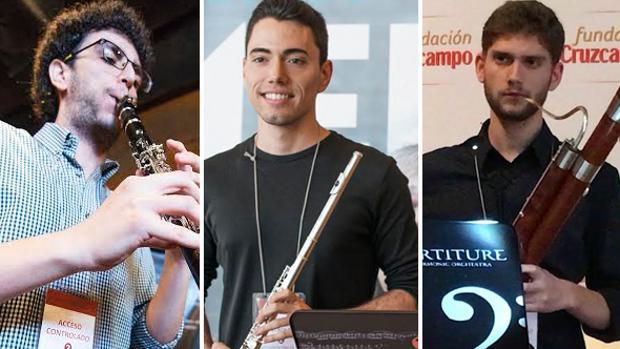 Los tres jóvenes músicos