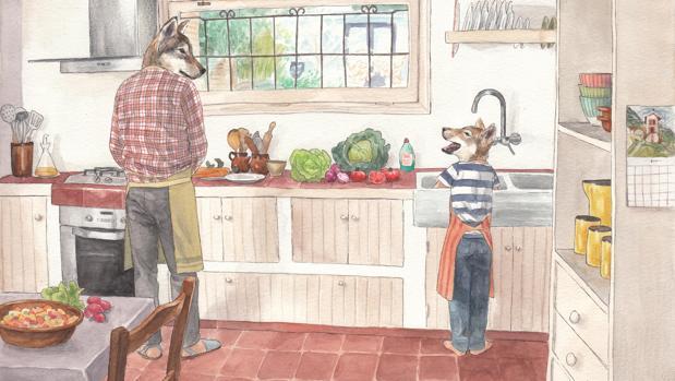 Una de las ilustraciones de «La colección del abuelo»