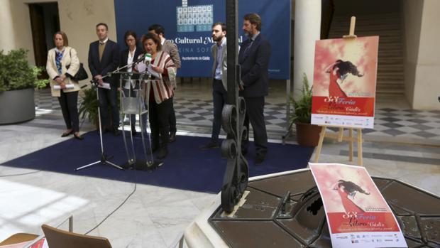Presentación de la Feria del Libro de Cádiz ayer en el Centro Reina Sofía. :: francis jiménez