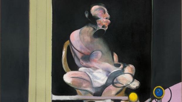 Detalle del retrato subastado ayer del amante de Francis Bacon