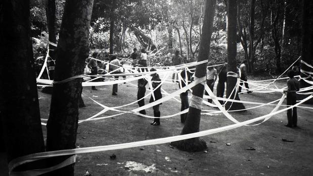 «Trabajo realizado con diez rollos de papel higiénico» (1970-1971)