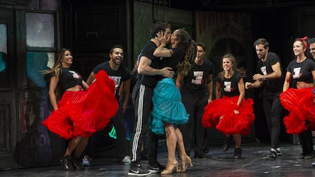 Una escena de los ensayos de «West Side Story»