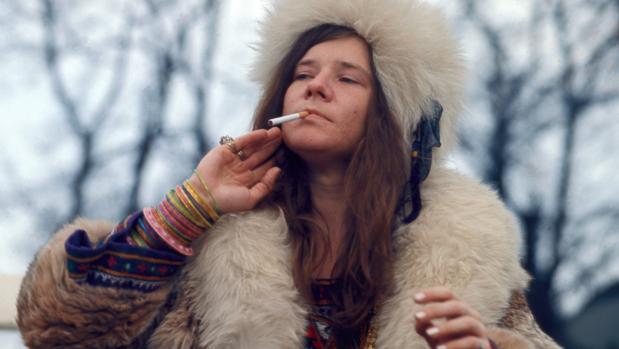 Janis Joplin fotografiada en 1969