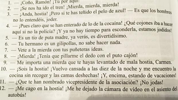 Una de las páginas del libro «Español en vivo»
