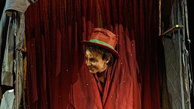 Verónica Echegui, como Gelsomina en «La Strada»