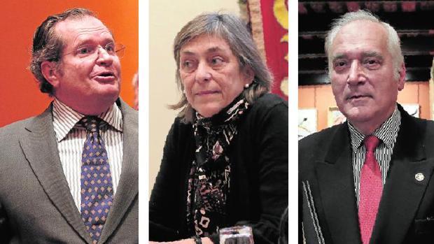 Juan Lacomba, María del Valle Gómez de Terreros y Juan Miguel González Gómez