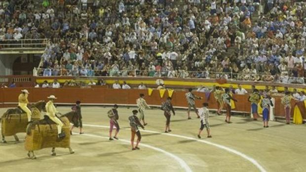 Imagen de uno de los últimos paseíllos en el Coliseo Balear