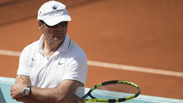 Toni Nadal, durante el Mutua Madrid Open