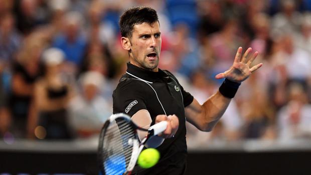 Novak Djokovic, durante su partido ante Albert Ramos