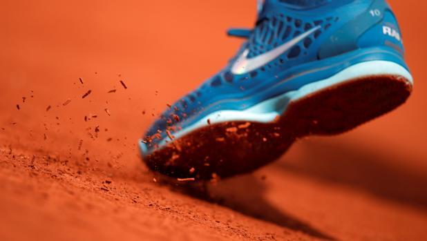 Una imagen de la tierra batida de Roland Garros