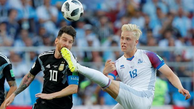 Messi, en el partido ante Islandia