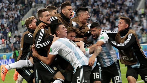 Celebración en el campo de Argentina