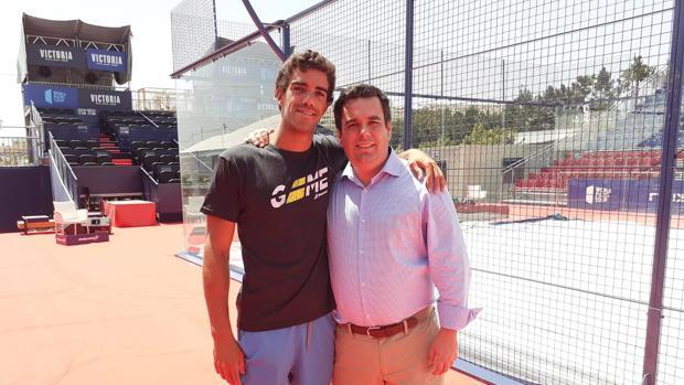 Juan Lebrón y Curro Martínez durante la cita del World Padel Tour en Mijas (Málaga).