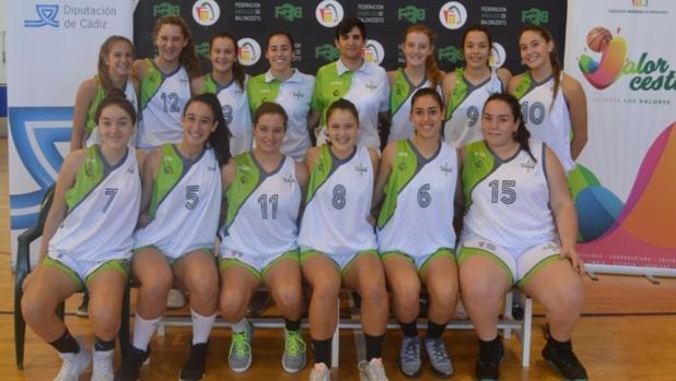 Las integrantes del equipo femenino cadete de Cádiz