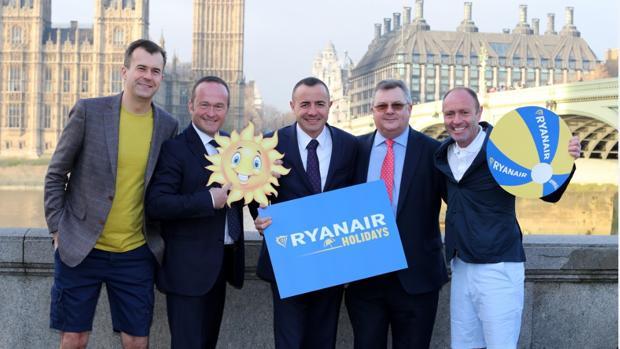 Greg O'Gorman, de Ryanair; Mark Neuschen, de W2M; Tommeu Bennasar y John Drysdale de Logitravel; y Kenny Jacobs, de Ryanair