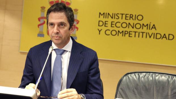 Fernández de Mesa cuando era secretario de Estado de Economía con Rajoy
