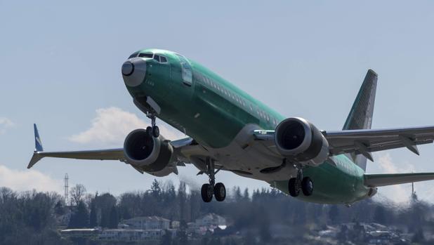 Una imagen de archivo de un Boeing 737 MAX 8