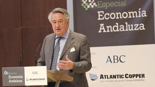 Javier Targuetta, consejero delegado de Atlantic Cooper, en un acto reciente organziado por ABC