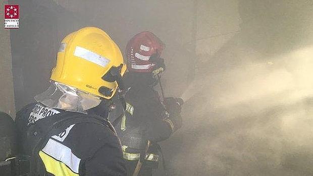 Imagen de la intervención de los bomberos