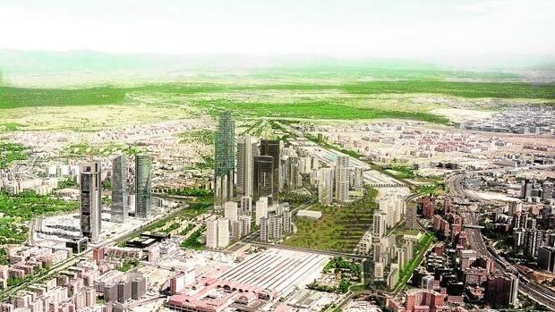 Imagen virtual del proyecto del Distrito Castellana Norte