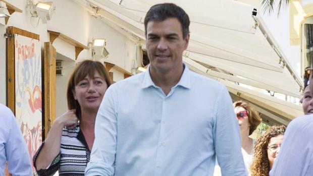 Pedro Sánchez y Francina Armengol, en una imagen de archivo