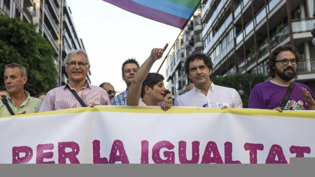Una manifestación a favor de los derechos LGBTI