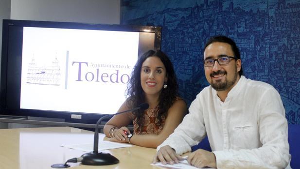 Inés Sandoval y Diego Mejías esta mañana en la rueda de prensa del Ayuntamiento.