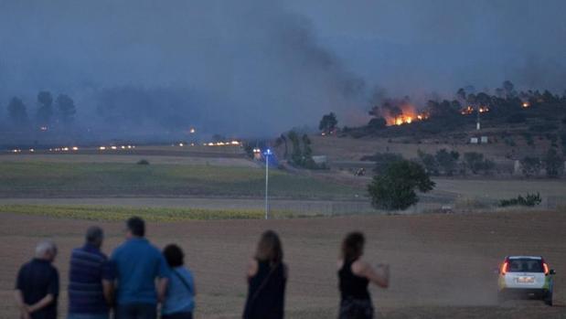 Incendio en Campillo de Altobuey, en Cuenca