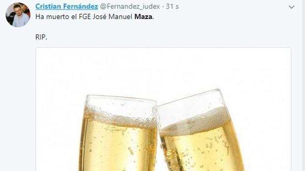 El «tuit» de Cristian Fernández que le ha costado un expediente de Podemos Cataluña