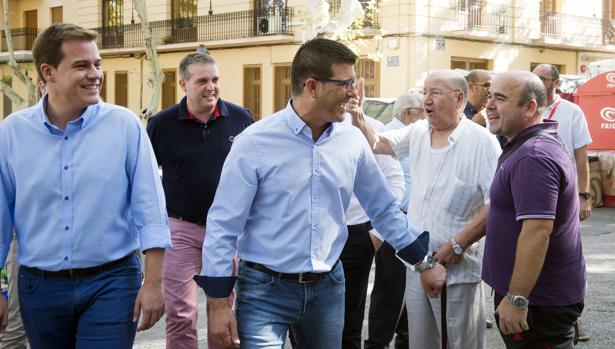 El president de la Diputació en una de les seues visites a Xàtiva