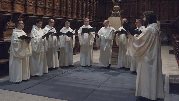 Concierto de la agrupación «Schola Antiqua», en el concierto del sábado