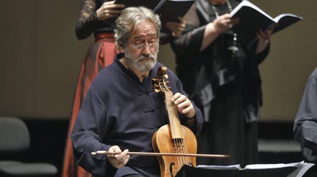 Jordi Savall, durante una actuación en Sevilla