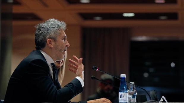El ministro Grande-Marlaska, este lunes en Valencia
