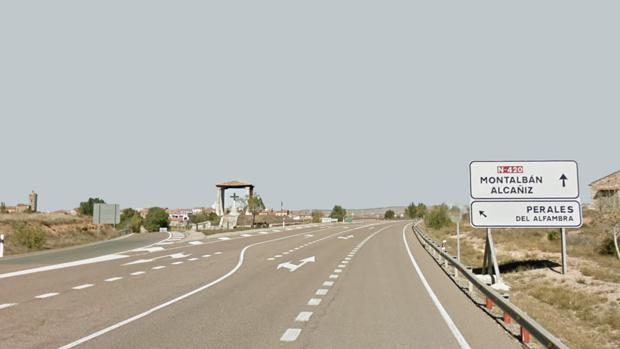 El accidente se ha producido en la N_420, a la altura de Perales de Alfambra (Teruel)