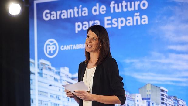 La ex candidata del PP a la Presidencia de Cantabria, Ruth Beitia, durante su acto de proclamación